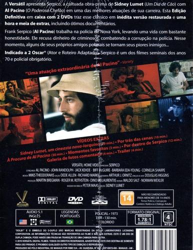 dvd serpico (1973) edicao definitiva versatil bonellihq q20