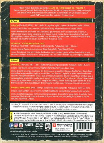 dvd sessao de terror anos 80 volume 2 - opc - bonellihq q20