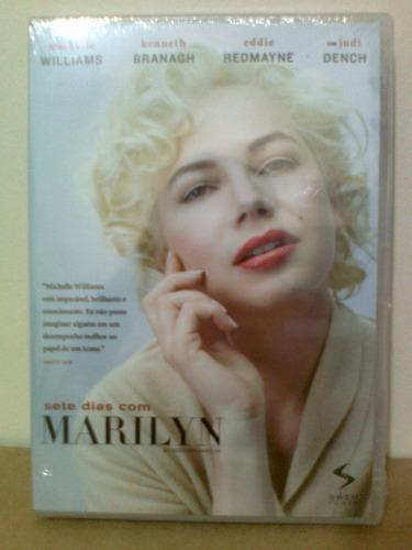 dvd sete dias com marilyn - novo