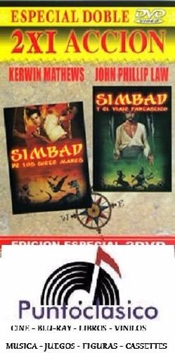 dvd - simbad de los 7 mares  simbad y el viaje fant