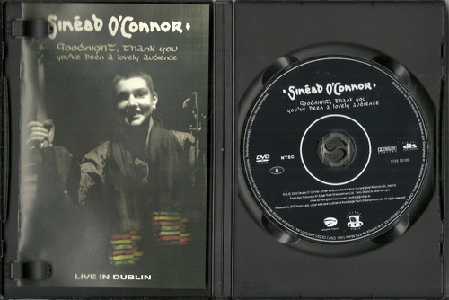 dvd sinéad o'connor - goodnigth, thank you, you've been a lo