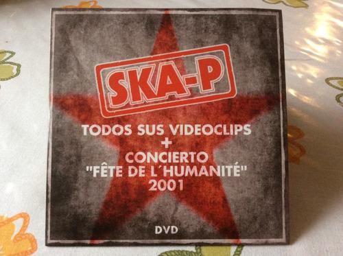 dvd ska-p todos  videoclips+concierto fete del humanice 2001