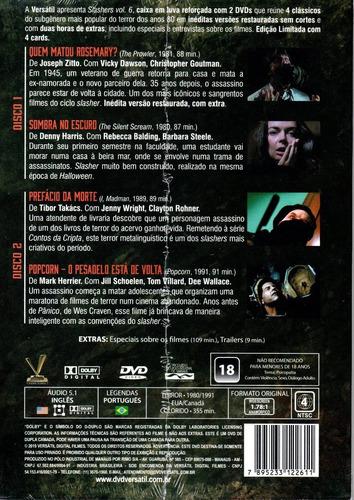 dvd slashers volume 6 com cards - versatil - bonellihq l19