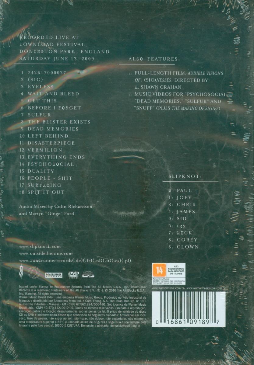 DISASTERPIECES DVD BAIXAR SLIPKNOT DO GRATIS