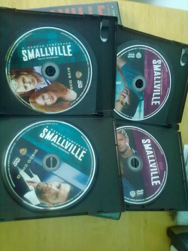 dvd smallville 2ª 3ª e 4ª temporada