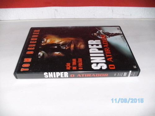 dvd sniper o atirador tom berenger de coleção e original- fj