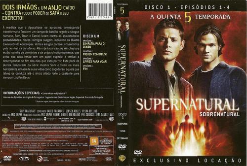dvd sobre natural 1º temporada a 9º