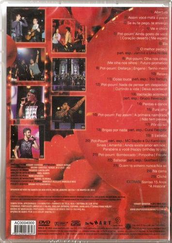 dvd sorriso maroto ao vivo 15 anos original