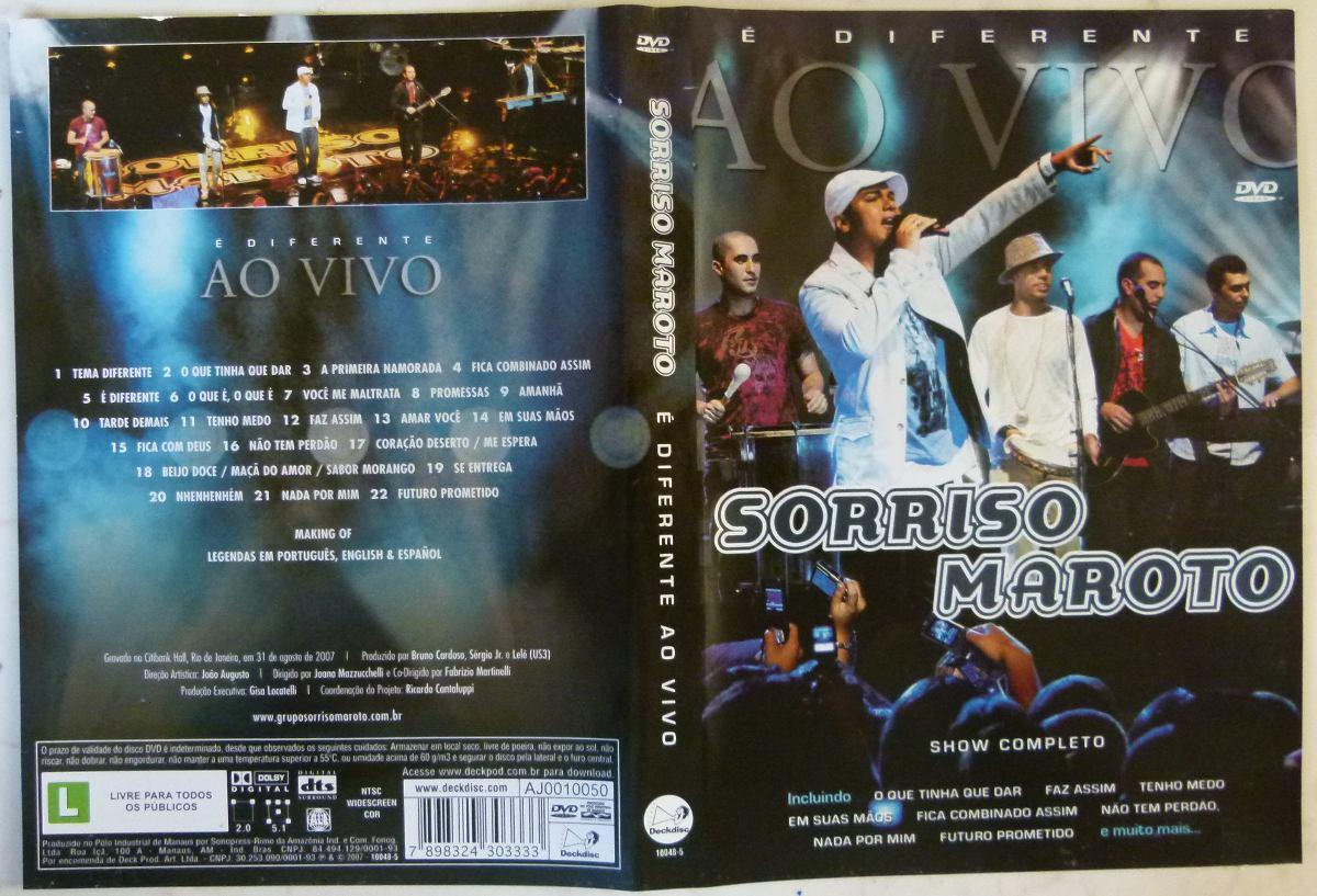 Dvd sorriso maroto é diferente ao vivo r$ 55,00 em mercado livre.