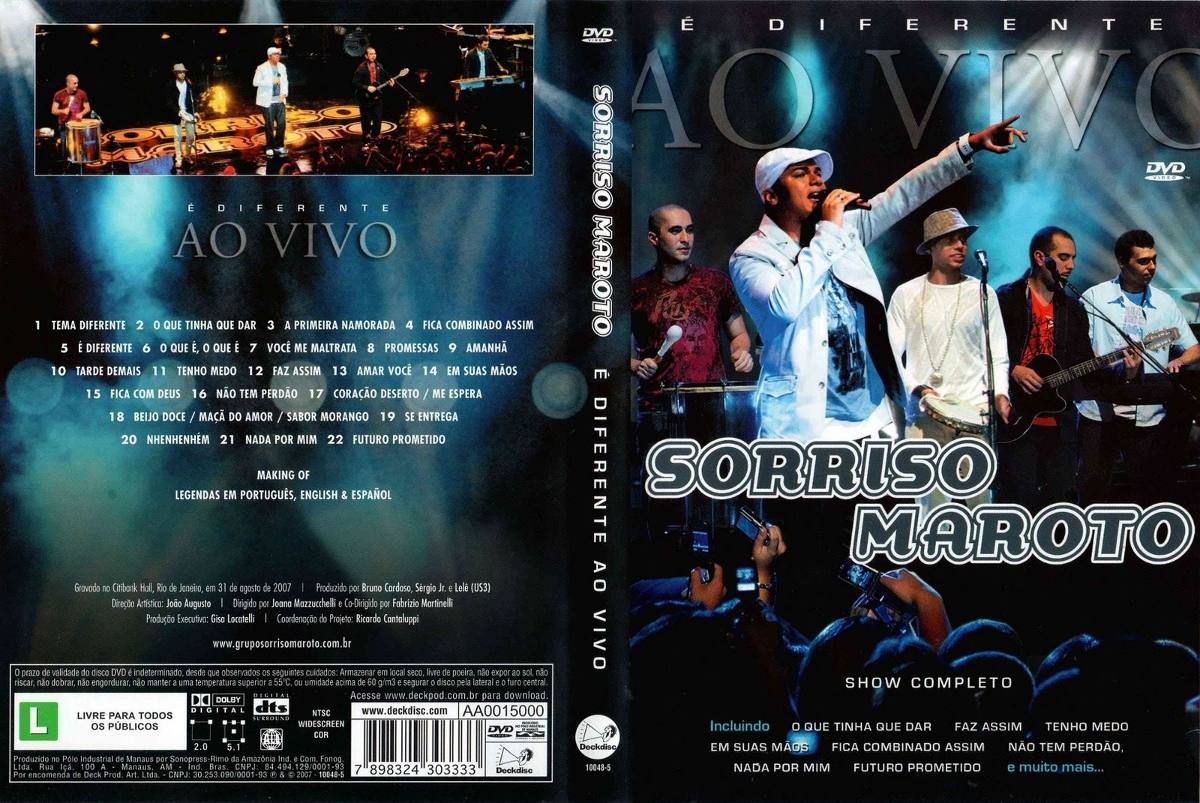 Dvd sorriso maroto é diferente ao vivo r$ 30,00 em mercado livre.