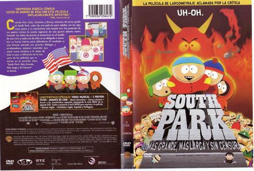 dvd south park mas grande, mas larga y sin sensura tampico