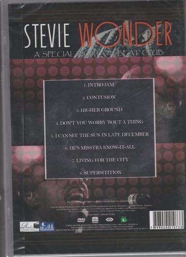 dvd stevie wonder a special night on beat club- edicao espec