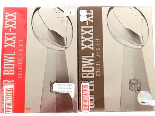 dvd súper bowl del 21 al 40 collector's set nuevo y sellado