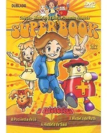 Dvd Superbook Volume 2 Colecao Historias Da Biblia Desenho A R