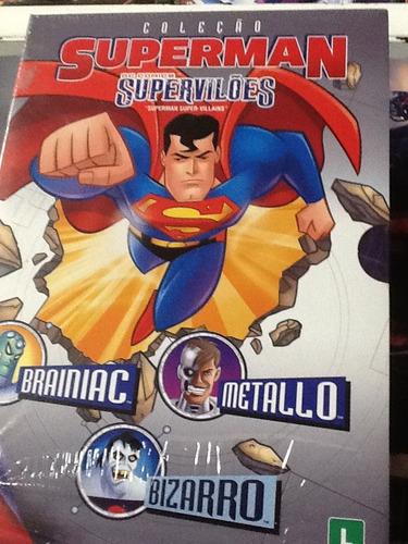 dvd superman supervilões a coleção 3discos
