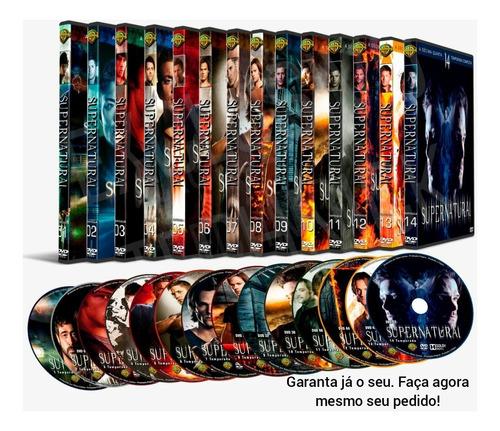 dvd supernatural 14° temporada completa dublado