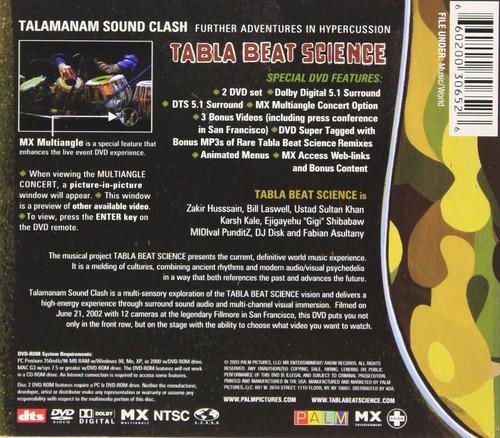 dvd : tabla beat science - talamanam sound clash: furthe...