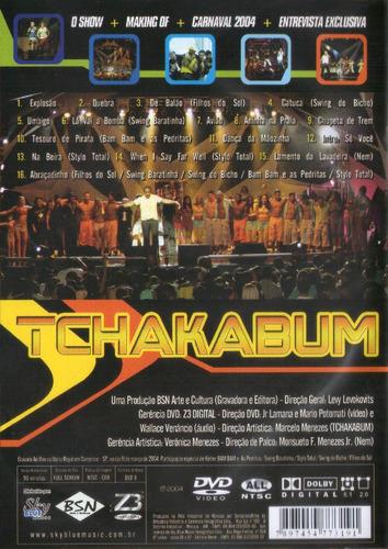 dvd tchakabum - ao vivo (raro)