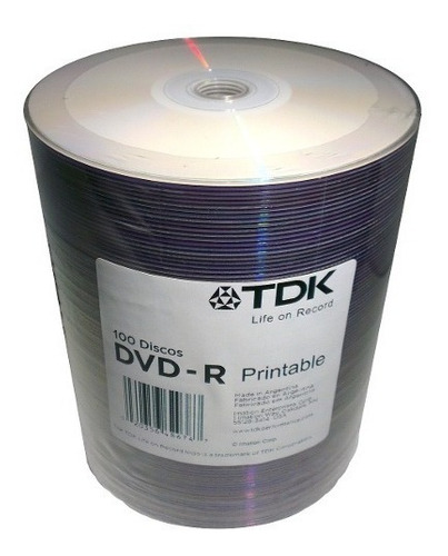 dvd tdk x 500 printable 8x +500 sobres-envio gratis