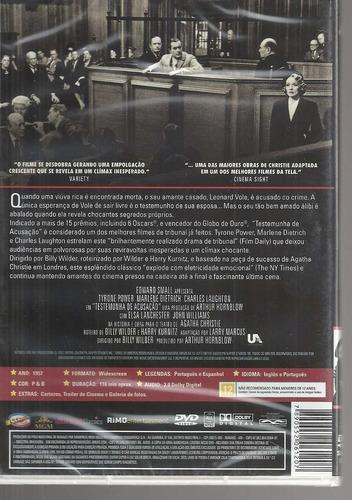 dvd testemunha de acusacao - classicline bonellihq d19