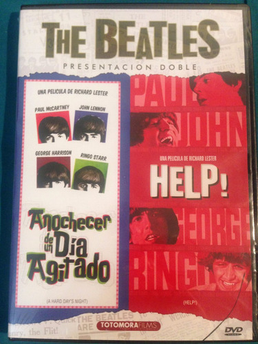 dvd the beatles anochecer de un dia agitado + help / 2 films