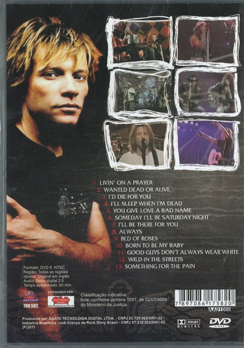 dvd - the best of bon jovi - live