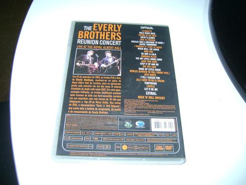 dvd  the everly brothers reunion concert com encarte