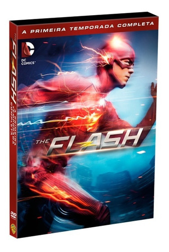 dvd the flash - 1ª temporada - 5 discos - original & lacrado