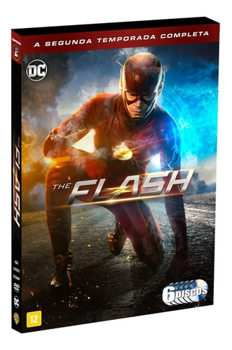 dvd the flash - 2ª temporada - 6 discos