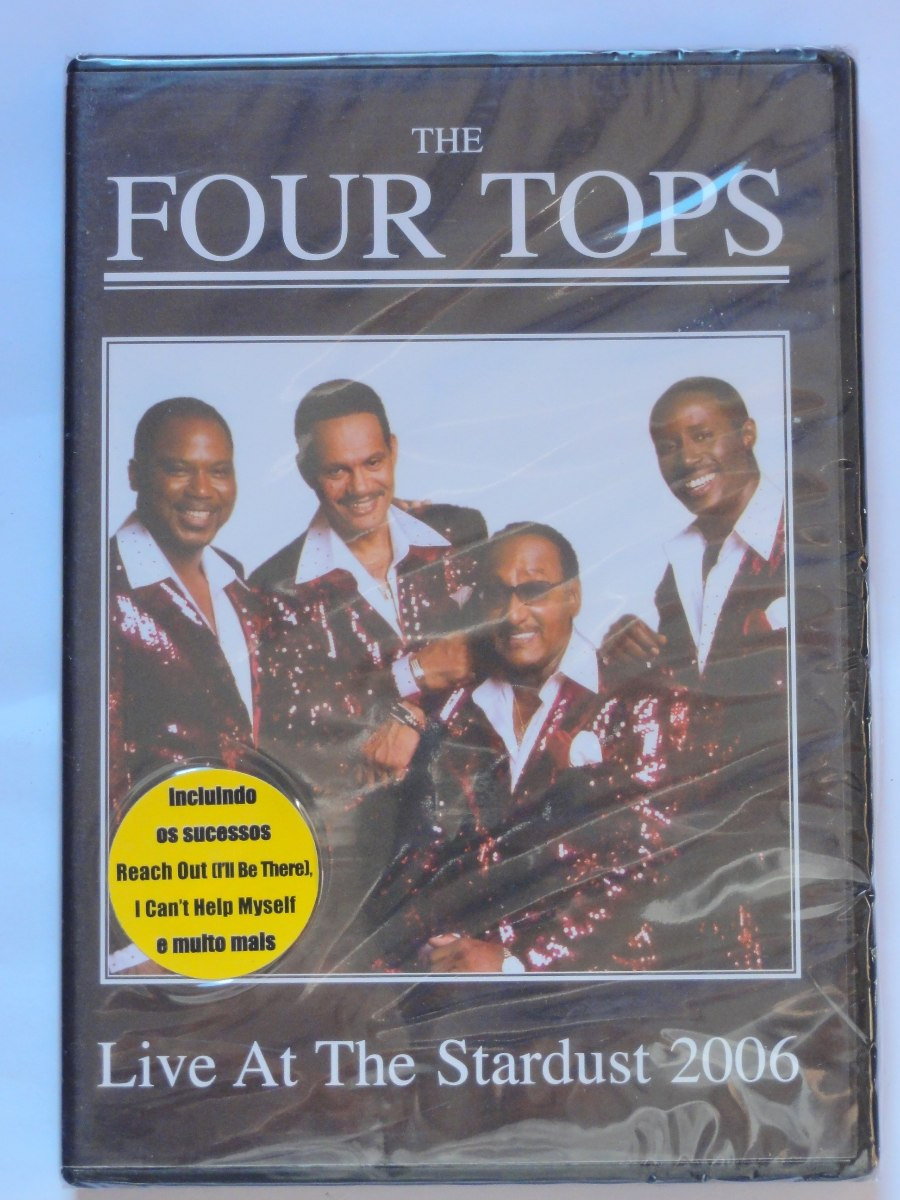 Dvd The Four Tops Live At The Stardust (2006) Novo Lacrado!!