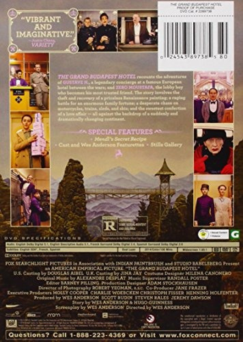 dvd :   - the grand budapest hotel (widescreen, dolby)