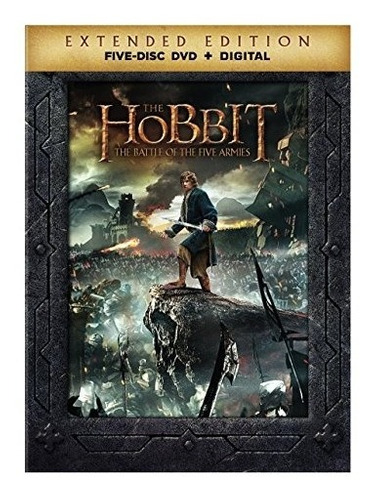 dvd : the hobbit: the battle of the five armies (extende...
