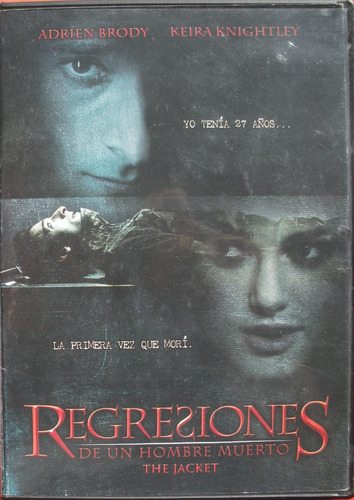 dvd- the jacket - regresiones de un hombre muerto