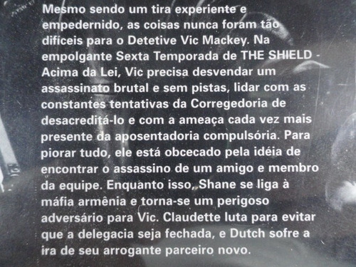 dvd - the shield acima da lei - 6ª temporada completa - novo