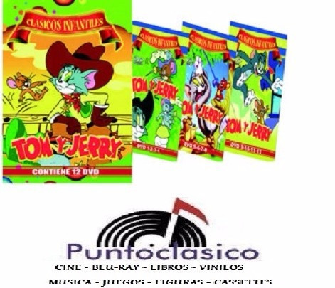 dvd - tom y jerry - infantil - t.v. original