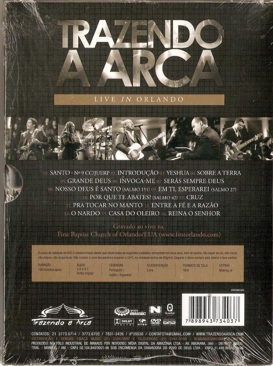 dvd do trazendo a arca live in orlando
