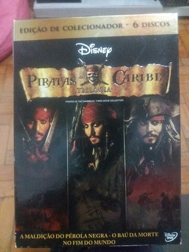 dvd trilogia piratas do caribe