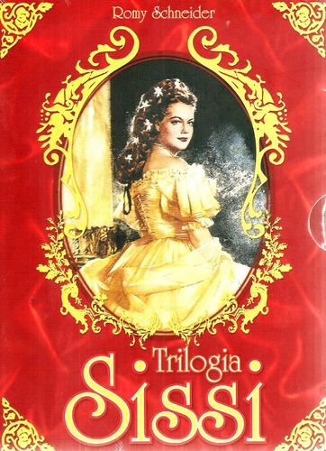 dvd trilogia sissi (box 3 filmes de sissi) romy schneider +