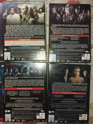 dvd true blood 1 a 4 temporadas completas originais