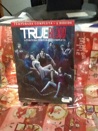 dvd true blood 3ª temporada 5 discos