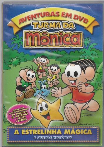 dvd turma da mônica a estrelinha mágica s. novo(cx 03) ok