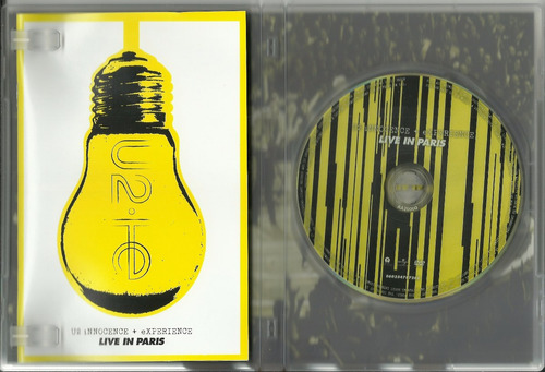 dvd u2 - u2 innocence + experience - live in paris - 2016