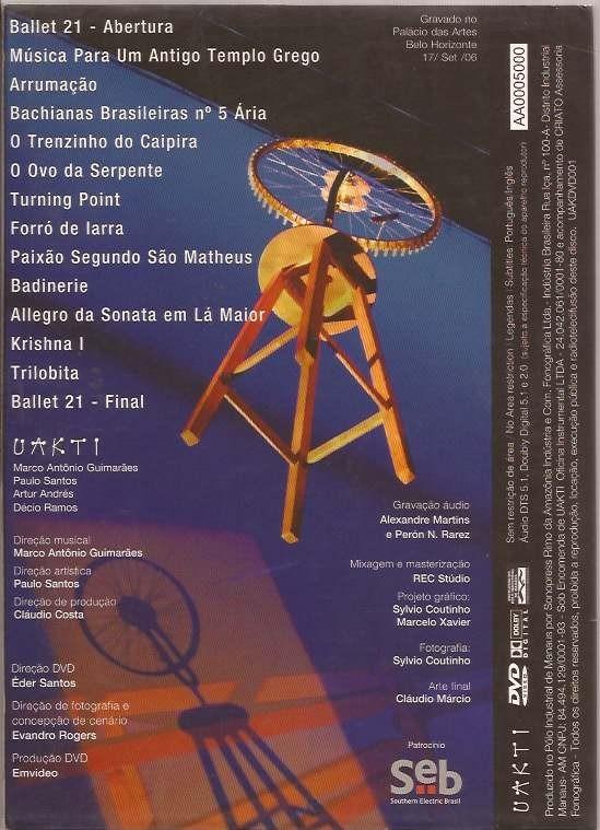 Dvd Uakti - Ao Vivo Em Belo Horizonte - Raro