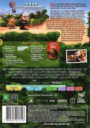 dvd up altas aventuras - disney pixar  original novo lacrado