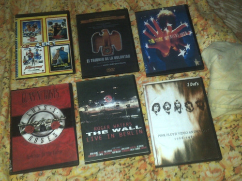 dvd usados. rock.guns  roses. .the cure,rammstein.etc