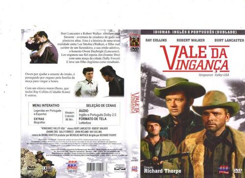 dvd vale da vingança, burt lancaster - western - original