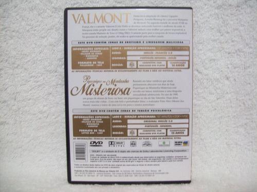 dvd valmont & piquenique na montanha misteriosa- 2 em 1