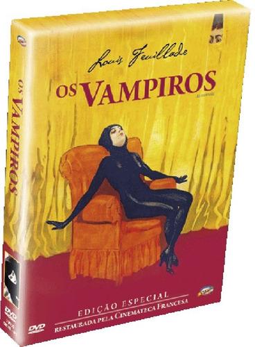 dvd vampiros (les vampires, frança  1915, mudo) box 3 dvds +