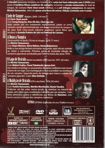 dvd vampiros no cinema 4 c/cards - versatil - bonellihq i19