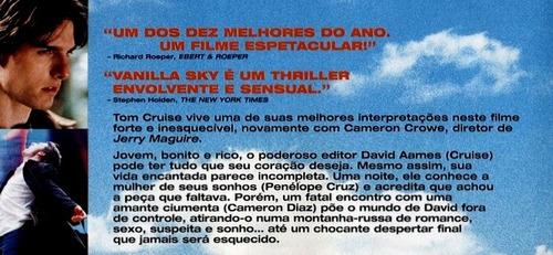dvd vanilla sky - tom cruise & penelope cruz - original!!!
